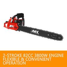 AAVIX 24inch Petrol Chainsaw 82cc 2-Stroke E-Start Pruning Chain Saw