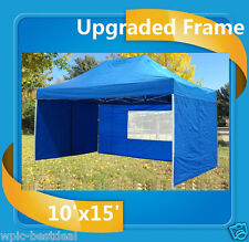 10'x15' Pop Up Canopy Party Tent EZ - Blue - F Model - Upgraded Frame