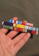 Beautiful RARE WWII US Army airborne German made ribbon bar pin rack