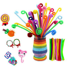 Be_ Ab_ 100pcs Chenille Stems Pipe Cleaners Kids Craft Educational Toys Twist Ro