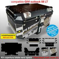 Kit COMPLETO adesivi COMPATIBILI top case GIVI 58 LT BMW R1250 Exclusive 2017