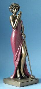 Sculpture Musicien Jazz Chanteur Féminin de Collection Statue Blues Parastone