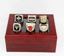 6pcs/set Chicago Bulls Championship Rings Size 11 In wood Box Collections Gift