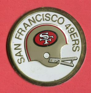 SAN FRANCISCO 49ERS Avon Metal Football Decal