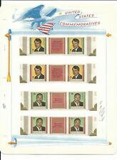 Guinea Collection, John F Kennedy, 8 White Ace Pages Mint NH Sets, FDC