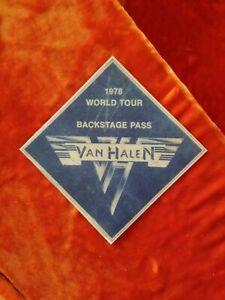 Van Halen 1978 World Tour Backstage Pass Sticker