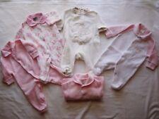 Baby Newborn Girls Jumpsuit Coveralls Bodysuit Pink Fluffy x5 Size 000