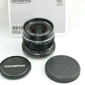 OLYMPUS Single Focus Lens M.ZUIKO DIGITAL ED 12mm F2.0 Black EMS w/ Tracking