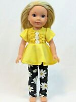 """Fringe Shapes Top Short Set Fits Wellie Wishers 14.5/"""" American Girl Clothes"""
