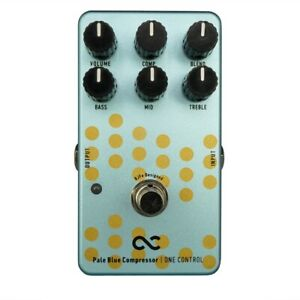 New One Control Pale Blue Compressor Guitar Effects Pedal