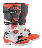 Alpinestars Tech5 Motocross Boots MX Size White/Grey/Red