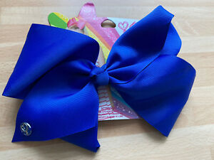 Large 8inch Girls Official Royal Blue Jojo Siwa Bow From Claires