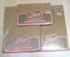 VINTAGE NIP DOUBLE BEDDING SET PR SLIPS, FLAT& FITTED SHEETS - NEUTRAL TAN