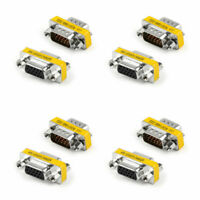 4P 15Pin VGA SVGA Gender Changer Adaptor Connector Coupler M/F Male to Female A0