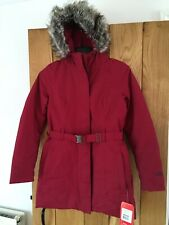 Womens North Face Brooklyn Parka Coat Jacket Rumba Red Size Medium M NEW