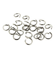 200 Jump Rings Stainless Steel 7mm x 1mm - Polished Open Jump Rings - J126