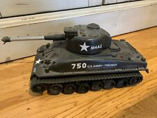 Radio controlled sherman tank vintage with manual and controller not functional