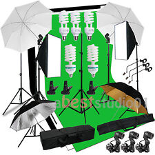 2025W Continuou Photog Video Studio Softbox Umbrella Lighting Backdrop Stand Kit