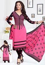Elegant Crepe Designer Printed Unstitched Dress Material Suit D.No V1363