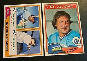 1981 Topps #1and #700 George Brett - Royals HOF