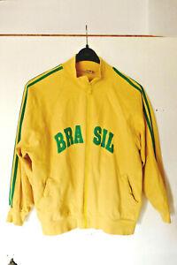 Fußball Jacke / Trainingsjacke mit Brasilien CBF Logo Brasil Größe M Baumwolle