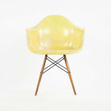 1951 Eames Herman Miller DAW Armshell Fiberglass Chair Rope Edge Zenith Yellow