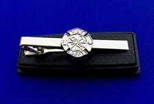 Fireman Shield Fire Department Badge Tie Bar Firemen Tie Clip Logo Emblem NEW