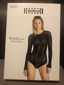Wolford Wildflower String Body Black Size Large RRP £225 BNWT