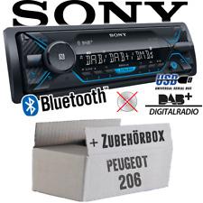 Sony Autoradio für Peugeot 206 DAB+/Bluetooth/MP3/USB Einbauzubehör Einbauset