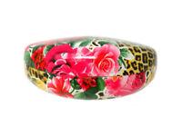 Glossy Flower & Animal Print Hard Clamshell Eyeglass / Sunglass Case