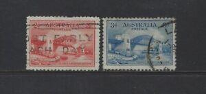 AUSTRALIA - #130-#131 - SYDNEY HARBOUR BRIDGE USED STAMPS
