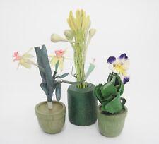 Yellow// Orange Daffodils 2 : DOLLHOUSE Miniatures 1:12 Miniature Loose Stems
