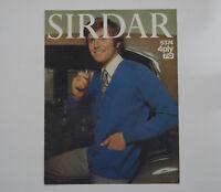"Vintage Knitting Pattern Sirdar 4 Ply Men's Cardigan with pockets 38-44"" 5374"