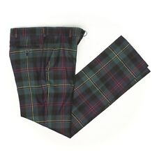NWT Brooks Brothers Fleece Boys Dress Pants 12 Green Blue Red Yellow Tartan