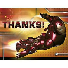 Iron Man Thank You Notes (8) ~ Birthday Party Supplies Stationery Cards Notes