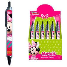 DISNEY Minnie Mouse Ragazza penna a sfera con miniera BLU SCUOLA PENNA BIRO NUOVO