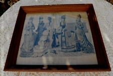 Antique 1877 French Fashion Etching LES MODES PARISIENNES PETERSONS MAGAZINE