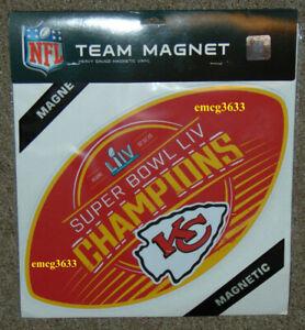 "Kansas City Chiefs Super Bowl LIV Champion 14"" Magnet"