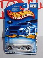Hot Wheels 2001 First Editions 22/36 #034 Jet Threat 3.0 Grey w/ Unpainted Base