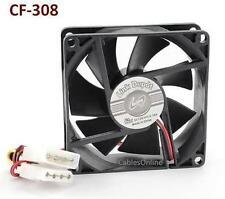 4-Pin Molex 80mm CPU Case / Power Supply Sleeve Bearing Cooling Fan, CF-308