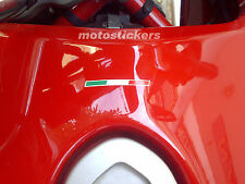 1 sticker flag italian moto DUCATI - tuning decal stickers - italian flag