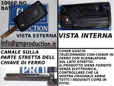 GUSCIO COVER PER CHIAVE TELECOMANDO PEUGEOT 307 207 2 tasti SENZA PORTABATTERIA