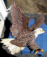 Large Antique Bald Eagle Wood Carving PA Wood Carver Stanley Seltz