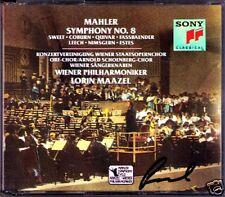 Lorin MAAZEL Signed MAHLER Symphony No.8 Fassbaender Quivar Nimsgern Estes 2CD