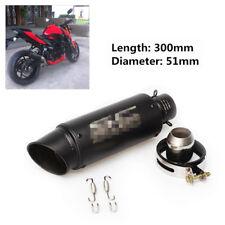 Universal Black Inlet 36-51mm Motorcycle Exhaust Muffler Pipe StainlessSteel Fab