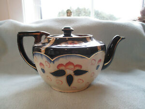 1930s  Large Gaudy Welsh Imari  Teapot