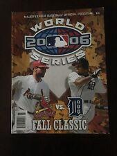 2006 World Series Programs St. Louis Cardinals vs. Detroit Tigers