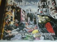 RUMBLE MILITIA STOP VIOLENCE AND MADNESS CD (#153)