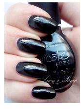 Nicole Opi Nail Polish Lacquer Razzle Dazzler 127 Black Creme Cream .5 oz New!