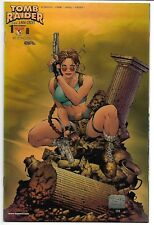 TOMB RAIDER: THE SERIES #1 NM- 1999 GOLD HOLOFOIL VARIANT TOP COW IMAGE COMICS